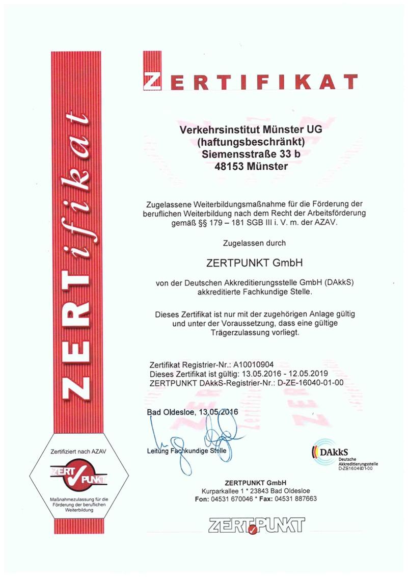 Zert-Urkunde